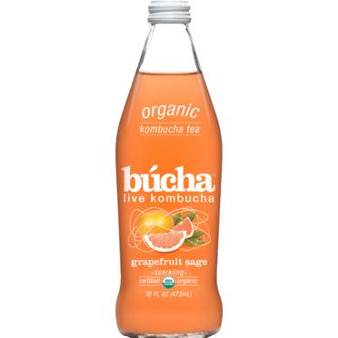 BUCHA - LIVE KOMBUCHA (Grapefruit Sage) - 16oz