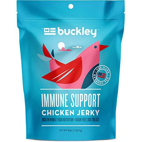 BUCKLEY - IMMUNITY CHICKEN JERKY /W CHIA, BLUEBERRIES & CRANVERRIES - 5oz