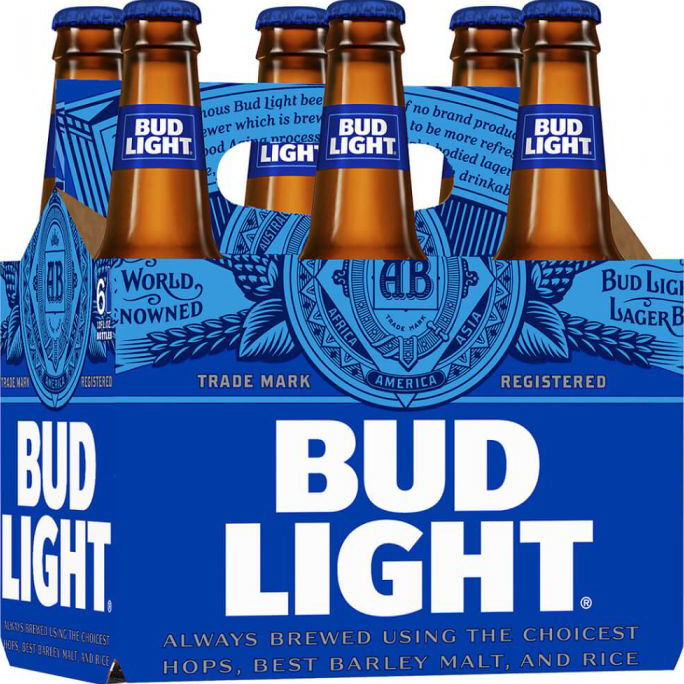 BUD LIGHT - (Bottle) - 12oz(6PK)