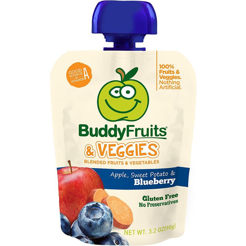 BUDDY FRUITS & VEGGIES - GLUTEN FREE - (Apple, Sweet Potato & Blueberry) - 3.2oz