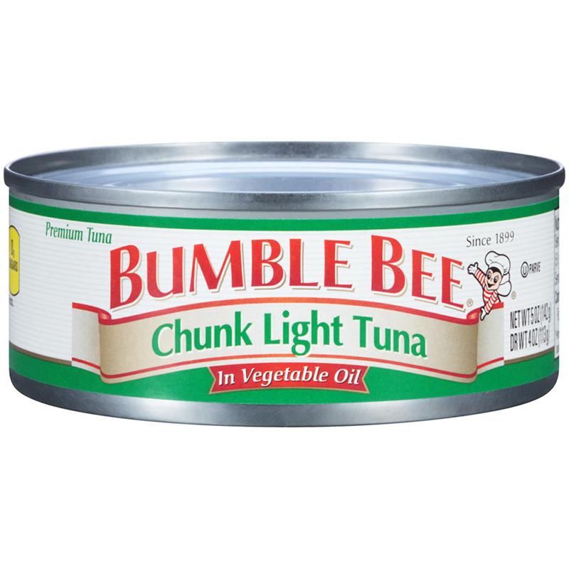 BUMBLE BEE - CHUNK WHITE TUNA (In Vegetable Oil) - GLUTEN FREE - 5oz