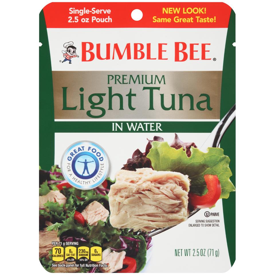 BUMBLE BEE - PREMIUM LIGHT TUNA IN WATER - GLUTEN FREE - 5oz