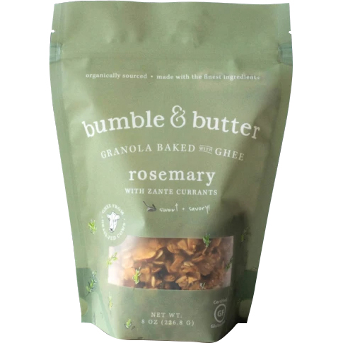 BUMBLE & BUTTER - GRANOLA BAKED WITH GHEE (Rosemary) - 8oz