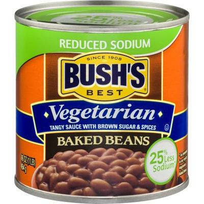 BUSH'S - BAKED BEANS - (Vegetarian | Reduced Sodium) - 16oz