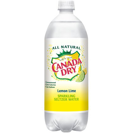 CANADA DRY - SPARKLING SELTZER WATER - (Lemon Lime) - 1L