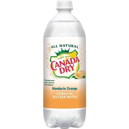 CANADA DRY - SPARKLING SELTZER WATER - (Mandarin Orange) - 1L