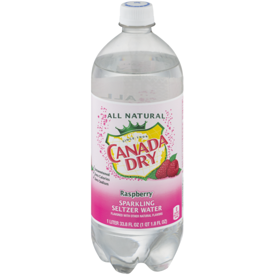 CANADA DRY - SPARKLING SELTZER WATER - (Raspberry) - 1L