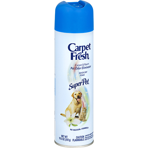 CARPET FRESH - CARPET & ROOM ODOR ELIMINATOR QUICK DRY FOAM - (Super Pet) - 10.5oz