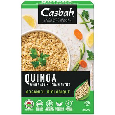 CASBAH - ORGANIC WHOLE GRAIN QUINOA - NON GMO - 7oz
