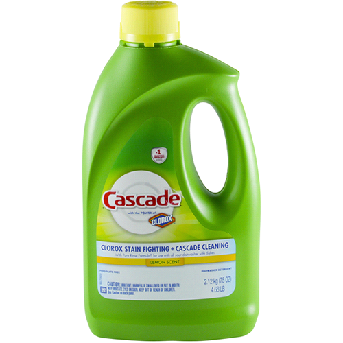 CASCADE - DISHWASHER DETERGENT - (6X Tougher Than Greasy Messes + Clorox Stain Fighting) - 75oz