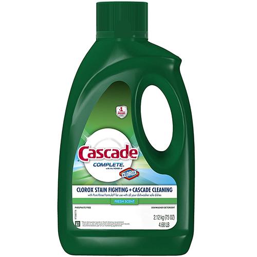 CASCADE - DISHWASHER DETERGENT - (Clorox Stain Fighting + Cascade Cleaning) - 75oz
