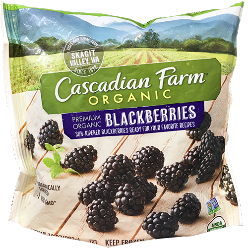 CASCADIAN FARM - ORGANIC BLACKBERRIES - NON GMO - 10oz