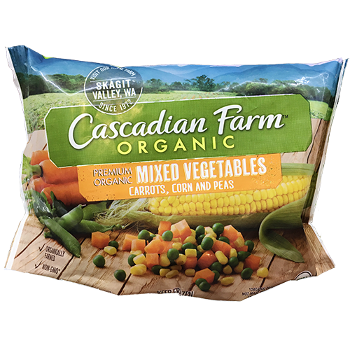 CASCADIAN FARM - ORGANIC MIXED VEGETABLES(CARROT,CORN,PEA) - NONGMO - 16oz
