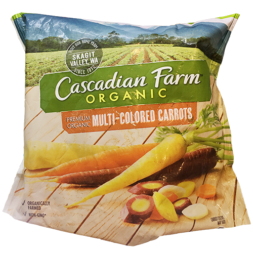 CASCADIAN FARM - ORGANIC MULTI COLORED CARROTS - NON GMO - 10oz
