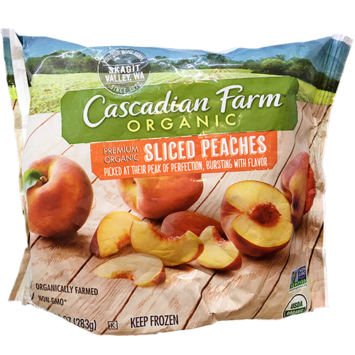 CASCADIAN FARM - ORGANIC SLICED PEACHES - NON GMO - 10oz