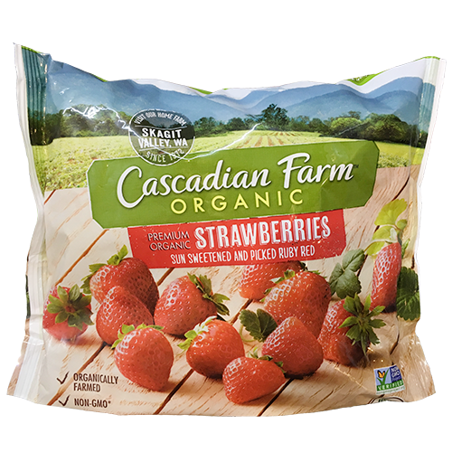 CASCADIAN FARM - ORGANIC STRAWBERRIES - NON GMO - 10oz