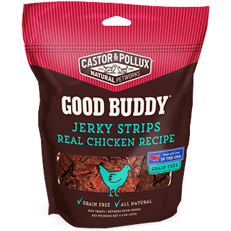 CASTOR & POLLUX - GOOD BUDDY JERKY STRIPS REAL CHICKEN RECIPE - 4.5oz