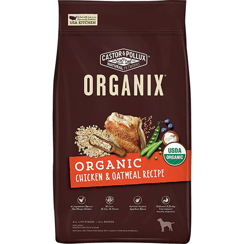 CASTOR & POLLUX - ORGANIX GRAIN FREE - (Chicken & Oatmeal Recipe) - 4LB