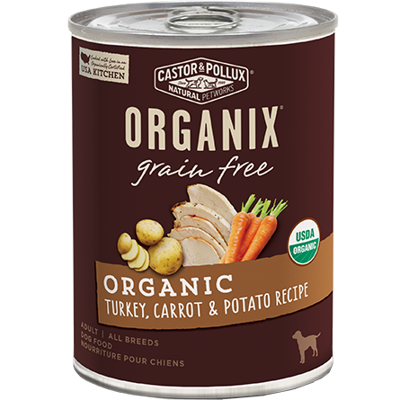 CASTOR & POLLUX - ORGANIX GRAIN FREE - (Organic Turkey, Carrot & Potato Recipe) - 12.7oz