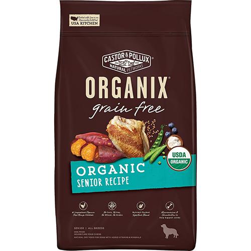 CASTOR & POLLUX - ORGANIX GRAIN FREE - (Senior Recipe) - 4LB