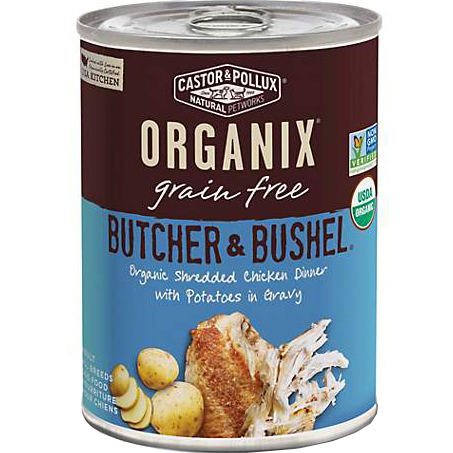 CASTOR & POLLUX - ORGANIX GRAIN FREE - (Shredded Chicken Dinner with Potatoes in Gravy)