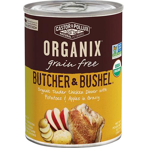 CASTOR & POLLUX - ORGANIX GRAIN FREE - (Tender Chicken Dinner with Potatoes & Apple in Gravy) - 12.7