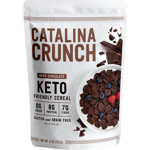 CATALINA CRUNCH - KETO FRIENDLY CEREAL - (Dark Chocolate) - 9oz