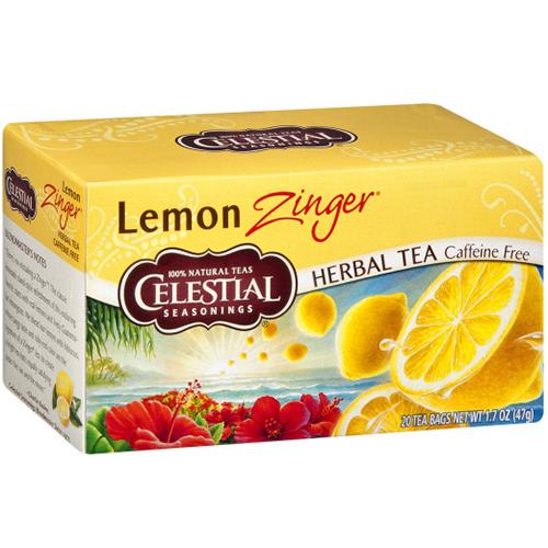 CELESTIAL - HERBAL TEA - (Lemon Zinger | Caffeine Free ) - 20bags