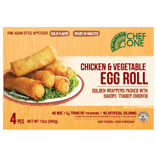 CHEF - CHICKEN VEGETABLE EGG ROLL - 12oz