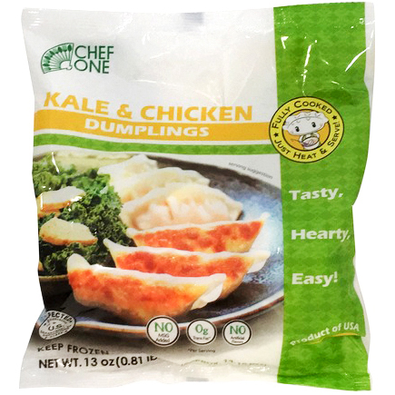 CHEF ONE - KALE & CHICKEN DUMPLINGS - 13oz
