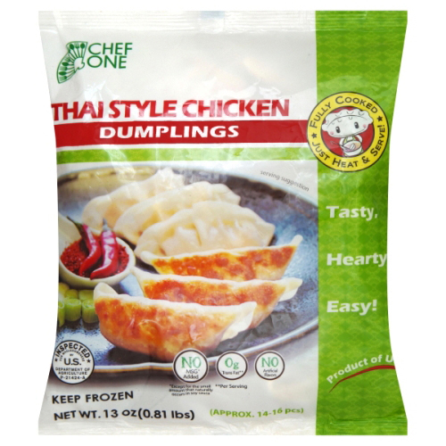 CHEF ONE - THAI STYLE CHICKEN DUMPLINGS - 13oz