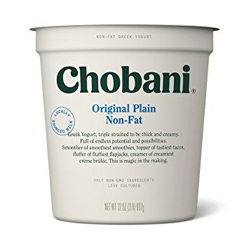 CHOBANI - (Original Plain Non-Fat) - 32oz