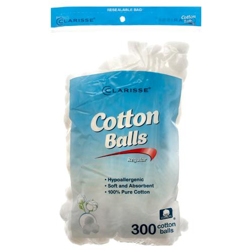 CLARISSE - COTTON BALLS - (Regular) - 300 Cotton Balls