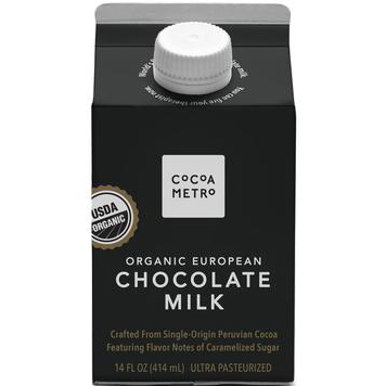 COCOA METRO - ORGANIC EUROPEAN CHOCOLATE MILK - 14oz