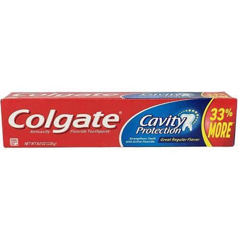 COLGATE - CAVITY PROTECTION - (Regular Flavor) - 8oz