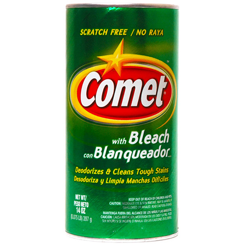 COMET - WITH BLEACH DEODORIZES & CLEANS TOUGH STAINS - 14oz
