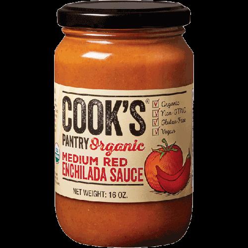 COOK'S - ORGANIC ENCHILADA SAUCE -  NON GMO - GLUTEN FREE - VEGAN - (Memium Red) - 8oz