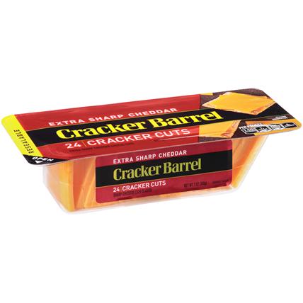 CRACKER BARREL - EXTRA SHARP CHEDDAR 24 CRACKER CUTS - 7oz