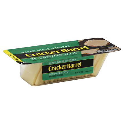 CRACKER BARREL - SHARP WHITE CHEDDAR 24 CRACKER CUTS - 7oz