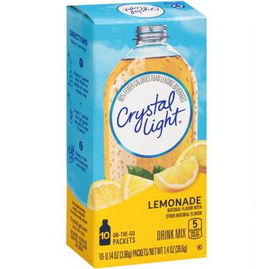 CRYSTAL LIGHT - DRINK MIX - (Lemonade) - 1.4oz
