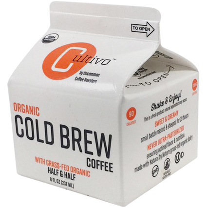 CULTIVO - ORGANIC COLD BREW COFFEE - (Half & Half) - 8oz