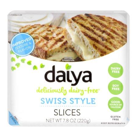 DAIYA - PROVOLONE STYLE SLICES CHEESE - DAIRY FREE - SOY FREE - GLUTEN FREE - VEGAN - 7.8oz