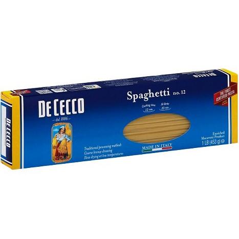 DE CECCO - NO.12 Spaghetti - 1LB