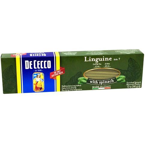 DE CECCO - NO.7 Linguine with Spinach - 1LB