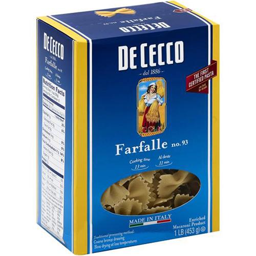 DE CECCO - NO.93 Farfalle - 1LB