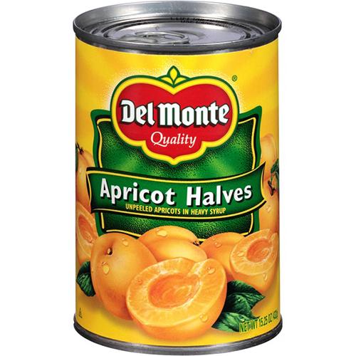 DEL MONTE - APRICOT HALVES - 15oz