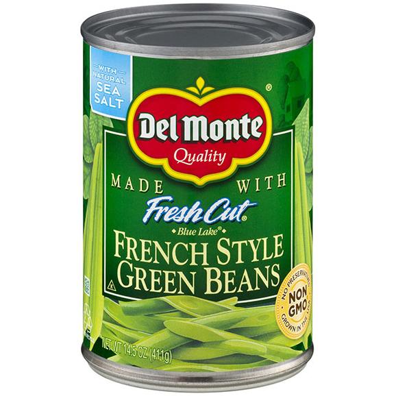 DEL MONTE - FRESH CUT FRENCH STYLE GREEN BEANS - NON GMO - 14.5oz