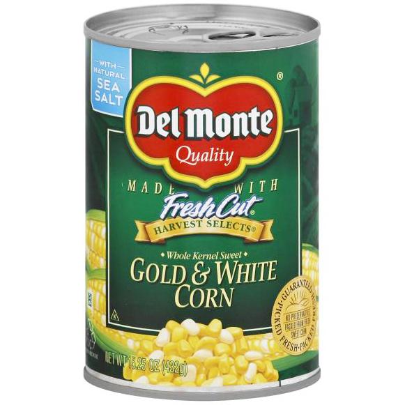 DEL MONTE - FRESH CUT GOLD & WHITE CORN - NON GMO - 15.25oz