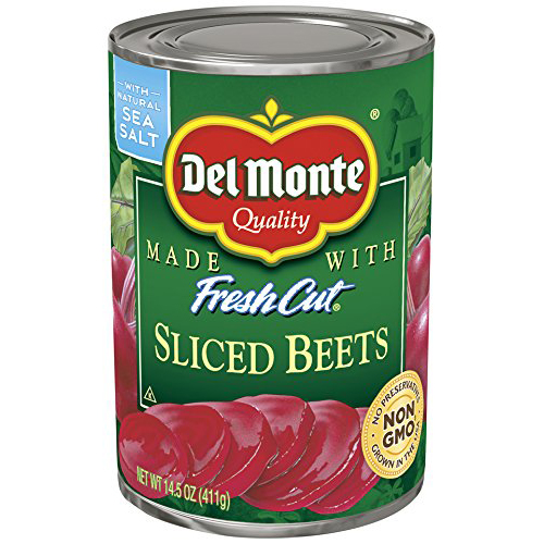 DEL MONTE - FRESH CUT SLICED BEETS - NON GMO - 14.5oz