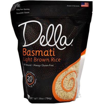 DELLA - BASMATI & LIGHT BROWN RICE - NON GMO - GLUTEN FREE - 28oz